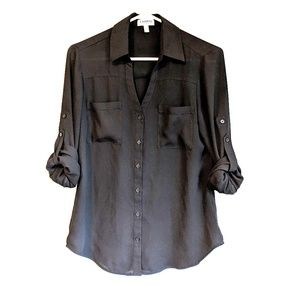 Express black Portofino button down shirt small